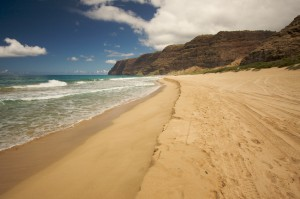 Polihale Beach on Kauai, Hawaii